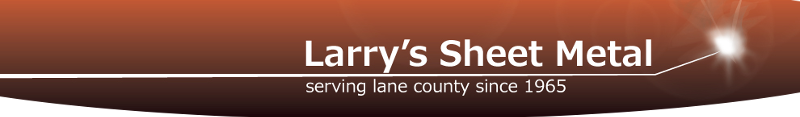 Larry's Sheet Metal copper logo, Serving Lane County since 1965.